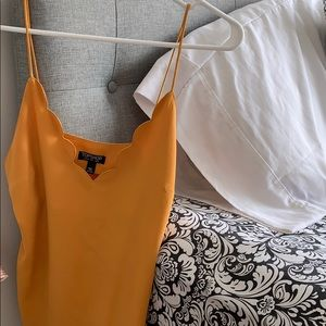 Yellow Scallop Camisole